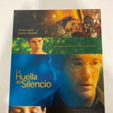 Cine: AFICHE DE CINE. PELICULA: LA HUELLA DEL SILENCIO. MEDIDAS APROX.: 21 X 30 CM. Lote 183953172