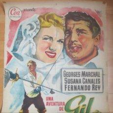 Cine: CARTEL CINE UNA AVENTURA DE GIL Y BLAS GEORGES MARCHAL SUSANA CANALES JANO C1676. Lote 184013952