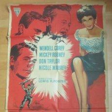Cine: CARTEL CINE AMANECER SANGRIENTO WENDELL COREY MICKEY ROONEY MCP C1678. Lote 184014327