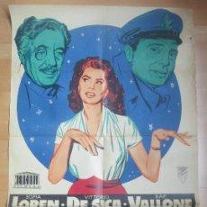 Cine: CARTEL CINE EL SIGNO DE VENUS SOFIA LOREN VITTORIO DE SICA JANO LITOGRAFIA C1681. Lote 184015017