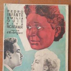Cine: CARTEL PELICULA HONRARAS A TU MADRE, PEDRO INFANTE EMILIA GUIU, RITA MONTANER, 100 X 70 CM, POSTER. Lote 184048562