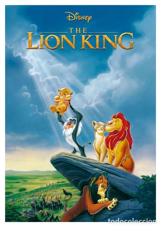 EL REY LEON. THE LION KING . LÁMINA CARTEL. 45 X 32 CMS. (Cine - Posters y Carteles - Infantil)