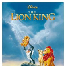 Cine: EL REY LEON. THE LION KING . LÁMINA CARTEL. 45 X 32 CMS.. Lote 184256616