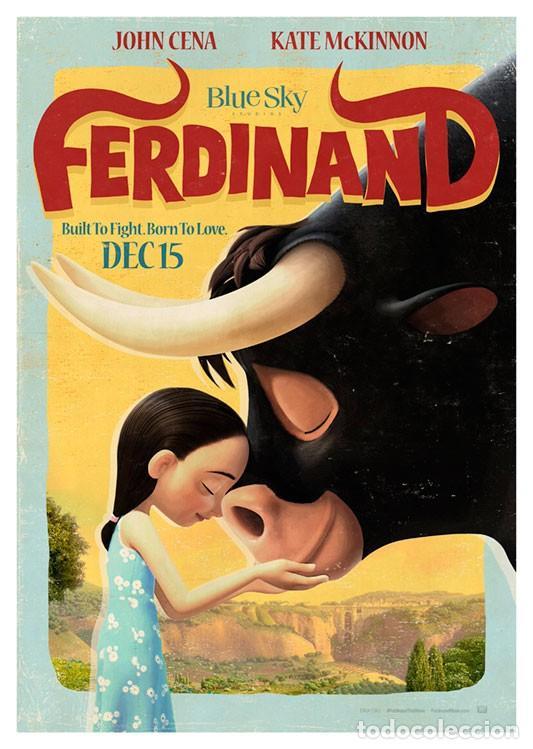 FERDINAND . LÁMINA CARTEL. 45 X 32 CMS. (Cine - Posters y Carteles - Infantil)