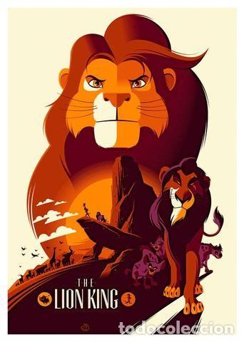 EL REY LEÓN. THE LION KING . LÁMINA CARTEL. 45 X 32 CMS. (Cine - Posters y Carteles - Infantil)