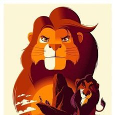 Cine: EL REY LEÓN. THE LION KING . LÁMINA CARTEL. 45 X 32 CMS.. Lote 221223767