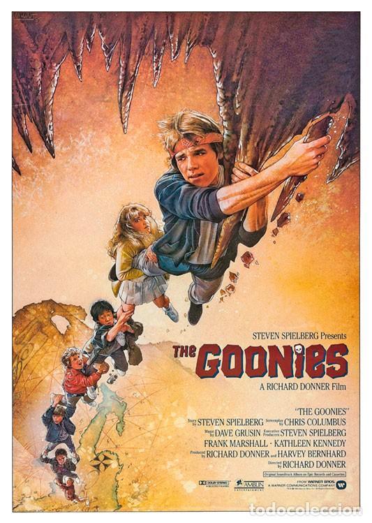 THE GOONIES . LÁMINA CARTEL. 45 X 32 CMS. (Cine - Posters y Carteles - Infantil)