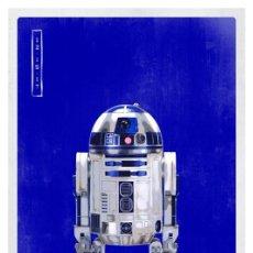 Cine: STAR WARS. PERSONAJES R2-D2. LÁMINA CARTEL. 45 X 32 CMS.. Lote 184265542