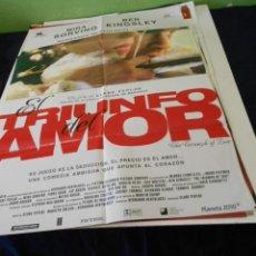 Cine: EL TRIUNFO DEL AMOR CARTEL POSTER CINE ORIGINAL 70X100 CMS. Lote 184281436