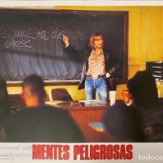 Cinema: AFICHE DE CINE. PELICULA: MENTES PELIGROSAS. MEDIDAS APROX.: 34 X 24 CM. Lote 184303133