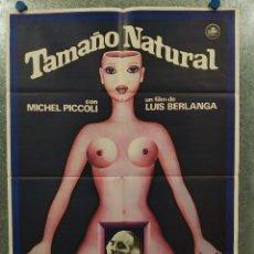 Cine: TAMAÑO NATURAL. MICHEL PICCOLI, RADA RASSIMOV, AMPARO SOLER LEAL AÑO 1977 POSTER ORIGINAL. Lote 184335802