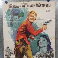 Cine: PACTO DE HONOR. KIRK DOUGLAS, WALTER MATTHAU. AÑO 1976. POSTER ORIGINAL. . Lote 184338681