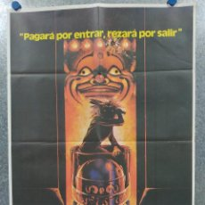 Cine: LA CASA DE LOS HORRORES. ELIZABETH BERRIDGE, COOPER HUCKABEE AÑO 1981. POSTER ORIGINAL. Lote 184348140