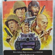 Cine: LOS VIOLENTOS DE KELLY. CLINT EASTWOOD, DONALD SUTHERLAND, TELLY SAVALAS AÑO 1981 POSTER ORIGINAL. Lote 184356946