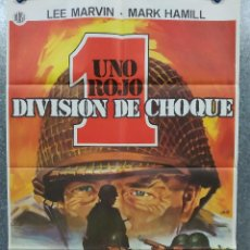 Cinema: UNO ROJO, DIVISIÓN DE CHOQUE. LEE MARVIN, MARK HAMILL, ROBERT CARRADINE AÑO 1980 POSTER ORIGINAL. Lote 184361862