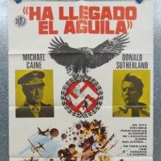 Cinema: HA LLEGADO EL ÁGUILA. MICHAEL CAINE, DONALD SUTHERLAND, ROBERT DUVALL AÑO 1977. POSTER ORIGINAL. Lote 184362966