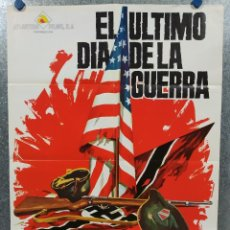 Cinema: EL ÚLTIMO DÍA DE LA GUERRA. GEORGE MAHARIS, MARIA PERSCHY AÑO 1969. POSTER ORIGINAL. Lote 184363360