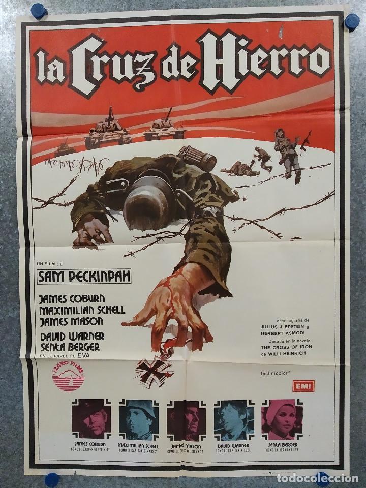 LA CRUZ DE HIERRO. JAMES COBURN, JAMES MASON, MAXIMILIAN SCHELL AÑO 1980. POSTER ORIGINAL (Cine - Posters y Carteles - Bélicas)