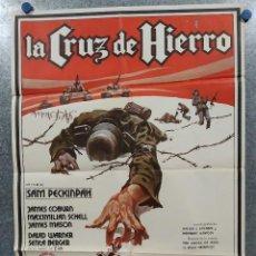 Cinema: LA CRUZ DE HIERRO. JAMES COBURN, JAMES MASON, MAXIMILIAN SCHELL AÑO 1980. POSTER ORIGINAL. Lote 184363922