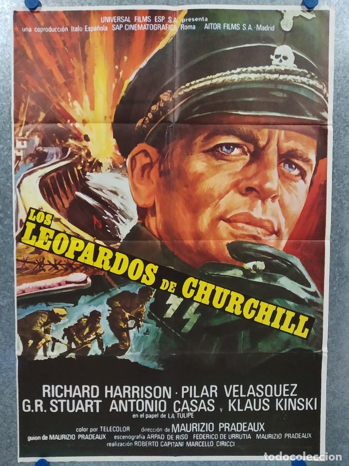 LOS LEOPARDOS DE CHURCHILL. RICHARD HARRISON, KLAUS KINSKI AÑO 1972. POSTER ORIGINAL (Cine - Posters y Carteles - Bélicas)