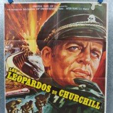 Cine: LOS LEOPARDOS DE CHURCHILL. RICHARD HARRISON, KLAUS KINSKI AÑO 1972. POSTER ORIGINAL. Lote 184364331