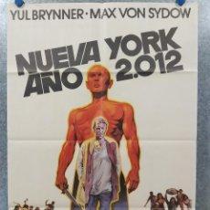 Cine: NUEVA YORK, AÑO 2012. YUL BRYNNER, MAX VON SYDOW. AÑO 1975. POSTER ORIGINAL. Lote 184453342