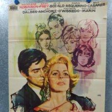 Cine: EL JUEGO DE LA VERDAD. JOSÉ BÓDALO, MADELEINE ROBINSON, MARÍA ASQUERINO 1963 POSTER ORIGINAL. Lote 184456656