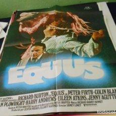 Cine: EQUUS RICHARD BURTON POSTER CINE ORIGINAL 70X100 CMS. Lote 184467620