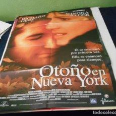 Cine: OTOÑO EN NUEVA YORK CARTEL POSTER CINE ORIGINAL 70X100 CMS. Lote 184470953