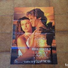 Cine: POSTER CARTEL REGRESO AL LAGO AZUL (1991) MILLA JOVOVICH. Lote 184472361