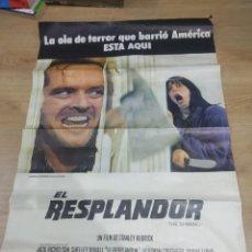Cine: PÓSTER ORIGINAL DE CINE 1980 EL RESPLANDOR DE STANLEY KUBRICK (BASTANTE AJADO Y REPARADO). Lote 184481128