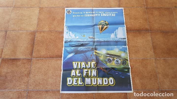 POSTER CARTEL VIAJE AL FIN DEL MUNDO (1977) JACQUES COUSTEAU (Cine - Posters y Carteles - Documentales)