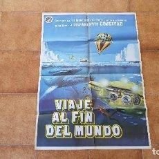 Cine: POSTER CARTEL VIAJE AL FIN DEL MUNDO (1977) JACQUES COUSTEAU. Lote 184585597