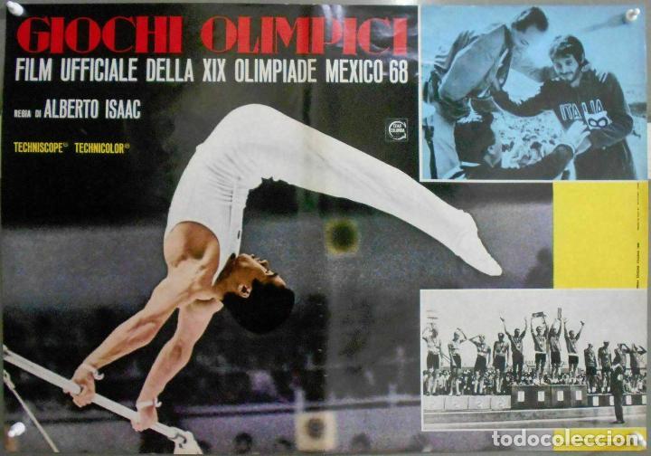 Cine: 2XB99D JUEGOS OLIMPICOS MEXICO 1968 SET DE 8 POSTERS ITALIANOS de CINE ORIGINALES 47X68 - Foto 2 - 184635917