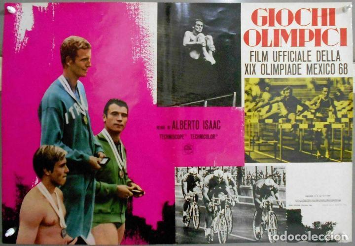 Cine: 2XB99D JUEGOS OLIMPICOS MEXICO 1968 SET DE 8 POSTERS ITALIANOS de CINE ORIGINALES 47X68 - Foto 4 - 184635917