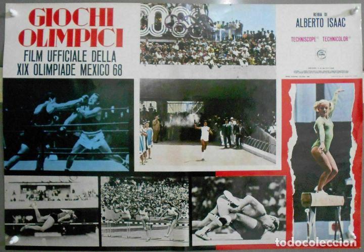 Cine: 2XB99D JUEGOS OLIMPICOS MEXICO 1968 SET DE 8 POSTERS ITALIANOS de CINE ORIGINALES 47X68 - Foto 5 - 184635917