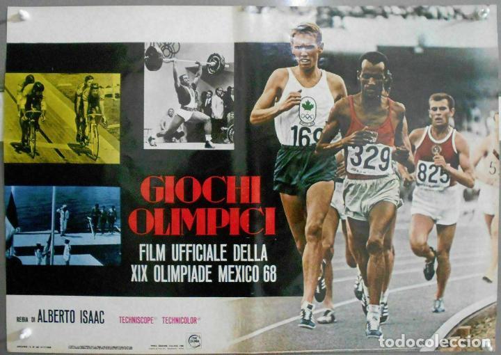 Cine: 2XB99D JUEGOS OLIMPICOS MEXICO 1968 SET DE 8 POSTERS ITALIANOS de CINE ORIGINALES 47X68 - Foto 6 - 184635917