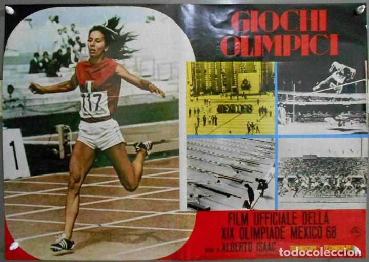 Cine: 2XB99D JUEGOS OLIMPICOS MEXICO 1968 SET DE 8 POSTERS ITALIANOS de CINE ORIGINALES 47X68 - Foto 7 - 184635917