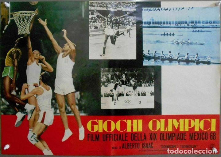 Cine: 2XB99D JUEGOS OLIMPICOS MEXICO 1968 SET DE 8 POSTERS ITALIANOS de CINE ORIGINALES 47X68 - Foto 8 - 184635917