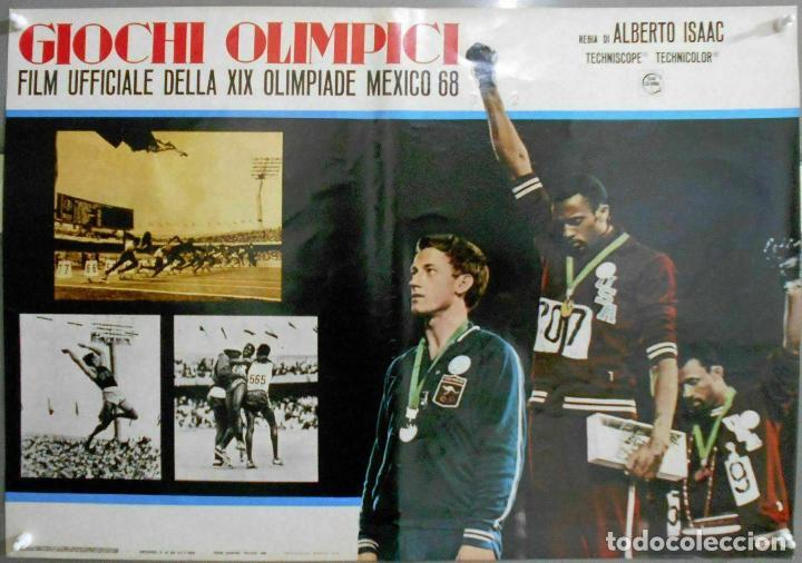 2XB99D JUEGOS OLIMPICOS MEXICO 1968 SET DE 8 POSTERS ITALIANOS DE CINE ORIGINALES 47X68 (Cine - Posters y Carteles - Deportes)