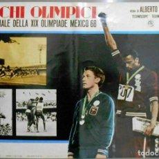 Cine: 2XB99D JUEGOS OLIMPICOS MEXICO 1968 SET DE 8 POSTERS ITALIANOS DE CINE ORIGINALES 47X68. Lote 184635917