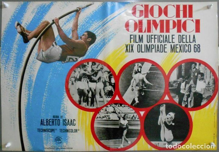 Cine: 2XB99D JUEGOS OLIMPICOS MEXICO 1968 SET DE 8 POSTERS ITALIANOS de CINE ORIGINALES 47X68 - Foto 3 - 184635917