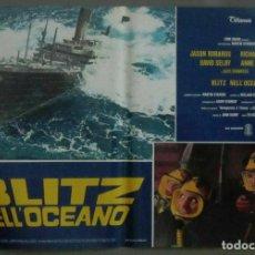 Cine: YJ33D RESCATEN EL TITANIC JASON ROBARDS ALEC GUINNNESS SET 8 POSTERS ORIGINALES ITALIANOS 47X68. Lote 184650328