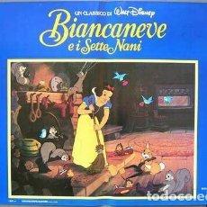 Cine: HT62D BLANCANIEVES Y LOS SIETE ENANITOS WALT DISNEY SET 8 POSTERS ORIGINALES ITALIANOS 47X68. Lote 184700670