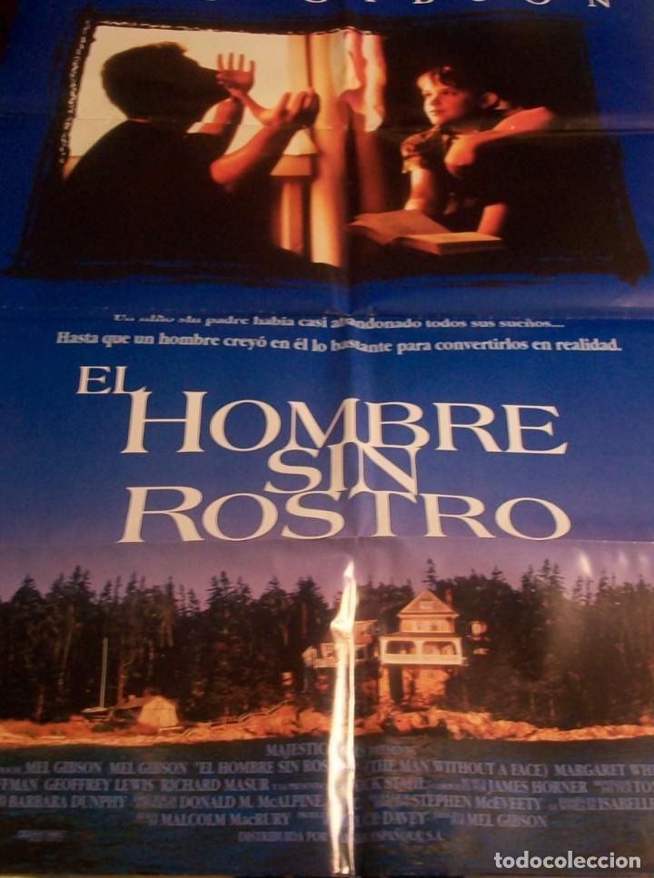 CINE. CARTEL ORIGINAL DE LA PELICULA EL HOMBRE SIN ROSTRO. CON MEL GIBSON (Cine - Posters y Carteles - Suspense)