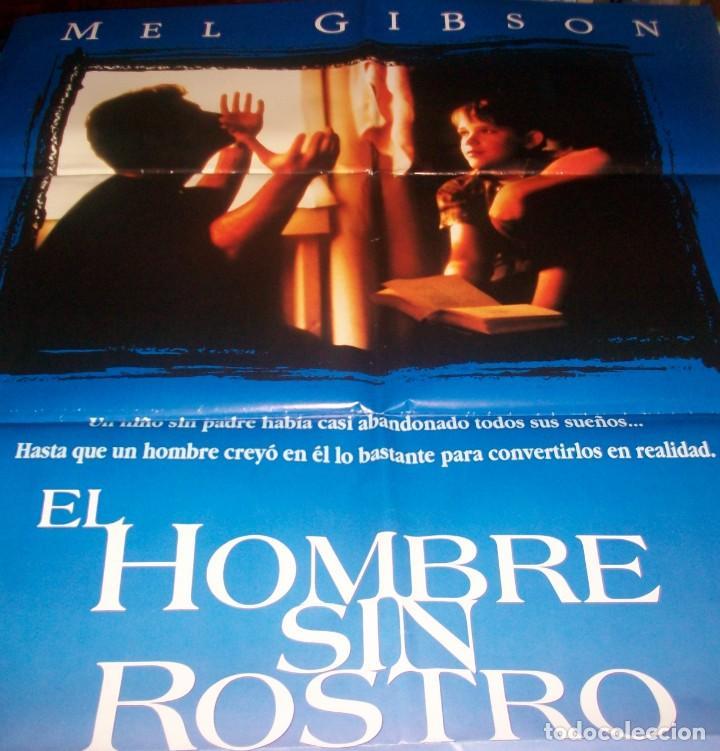 Cine: CINE. Cartel original de la pelicula El hombre sin rostro. Con Mel Gibson - Foto 2 - 184795311