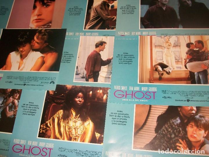 LOTE DE 9 AFICHES DE LA PELÍCULA GHOST (MÁS ALLÁ DEL AMOR). 1990. CON PATRICK SAYZE Y DEMI MOORE. (Cine - Posters y Carteles - Suspense)