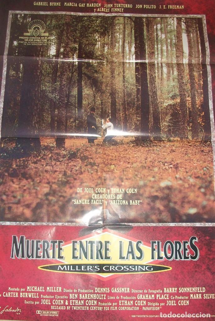 CINE. CARTEL ORIGINAL DE LA PELÍCULA MUERTE ENTRE LAS FLORES (MILLER´S CROSSING) DE JOEL COEN. 1990 (Cine - Posters y Carteles - Suspense)
