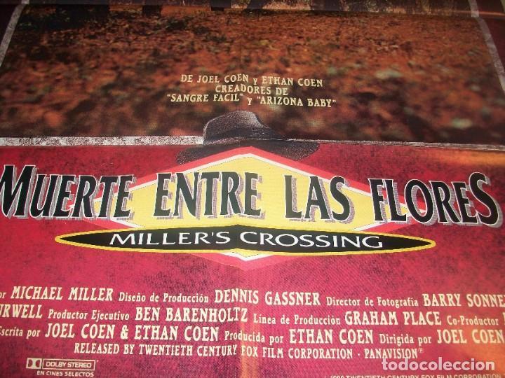 Cine: CINE. Cartel original de la película Muerte entre las flores (Miller´s Crossing) de Joel Coen. 1990 - Foto 2 - 184844783