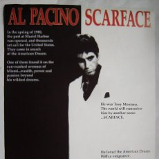 Cine: SCARFACE, CON AL PACINO. POSTER 61 X 91,5 CMS... Lote 206591630